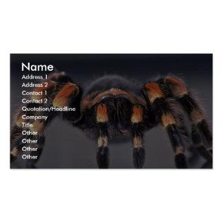 Scary Tarantula spider Business Cards