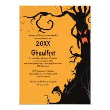 Scary Tree Halloween Party Invitation