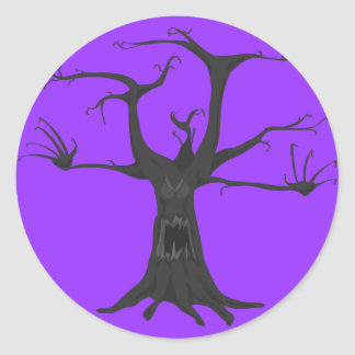 scary tree stickers