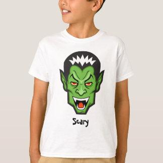 Scary Vampire Halloween T-Shirt Autism Back XS S M
