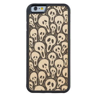 Scary wallpaper carved maple iPhone 6 bumper case