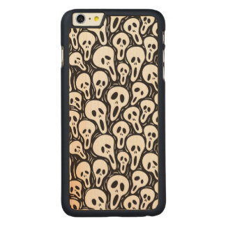 Scary wallpaper carved maple iPhone 6 plus case