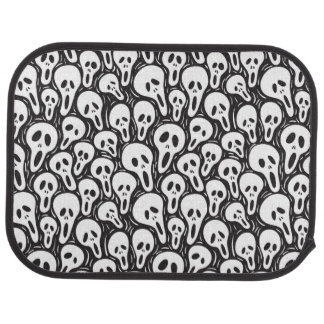 Scary wallpaper floor mat