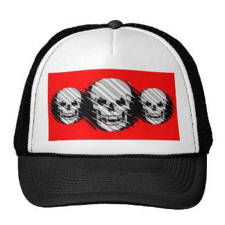 Scary Wavey Skull Trucker Hat