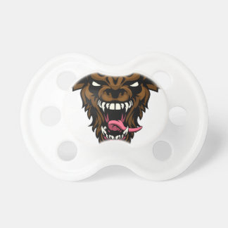 Scary Wolf or Werewolf Mascot Pacifiers