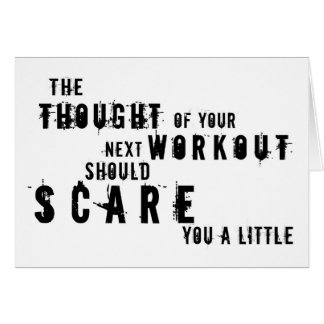 Scary Workout greeting card