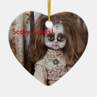 Scary Xmas Doll. Christmas Ornament