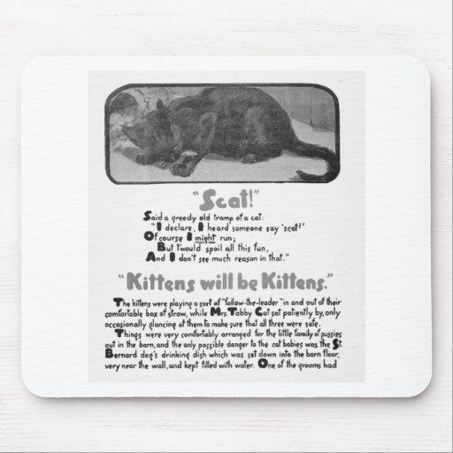 Scat! Cat Poem and Artwork Mousepad