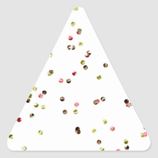 SCATTER 014 DECORATIVE COLORFUL GLITTER CHIPS RAND TRIANGLE STICKER