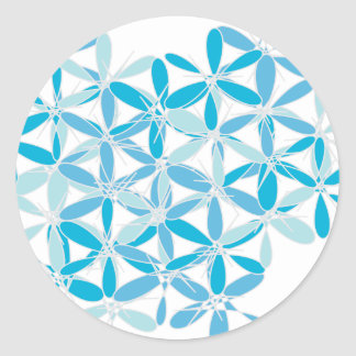 Scatter Blue Pattern Stickers