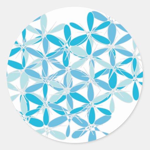 Scatter Blue Pattern Stickers
