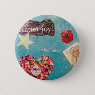 Scatter Joy! Collage Glitter Pin