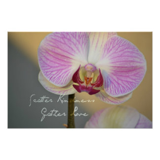 Scatter Kindness Orchid Poster