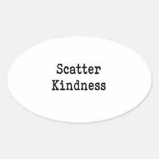 Scatter Kindness Oval Sticker