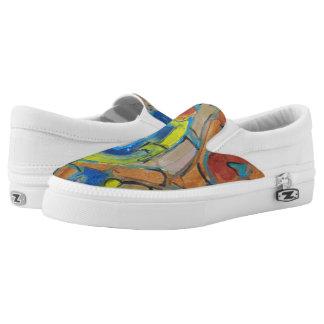 Scatter Roses Slip On Shoes