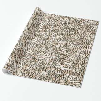 Scattered Alphabet Letters Wrapping Paper