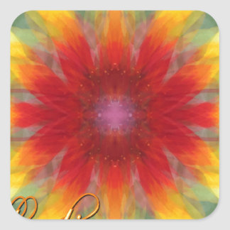 Scattered Blanket Flowers Stickers