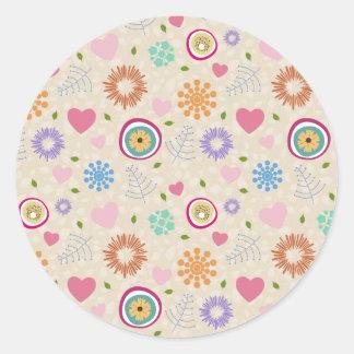 Scattered Blooms Round Sticker
