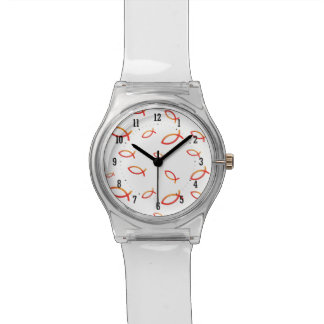 Scattered Christian Fish Wrist Watch