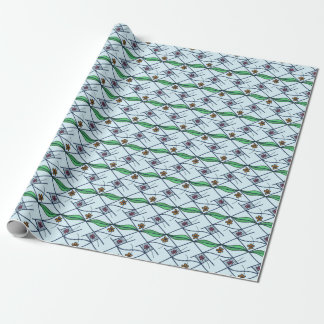 Scattered daisies wrapping paper