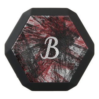 Scattered Design w/customizable monogram Black Bluetooth Speaker