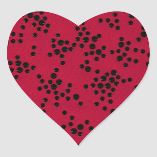 Scattered Dots Heart Sticker