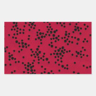 Scattered Dots Rectangular Sticker