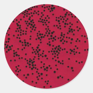 Scattered Dots Round Sticker