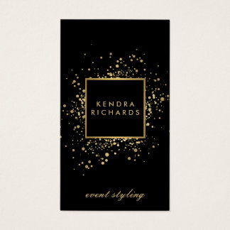 Scattered Faux Gold Confetti on Modern Black