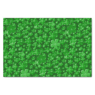 Scattered Flowers-Green-TISSUE WRAPPING PAPER