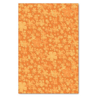 """Scattered Flowers-Lt Orange-TISSUE WRAPPING PAPER 10"""" X 15"""" Tissue Paper"""
