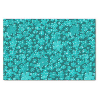 Scattered Flowers-Lt Teal-TISSUE WRAPPING PAPER