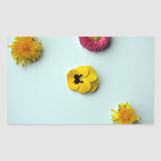 Scattered Flowers on white background Stickers