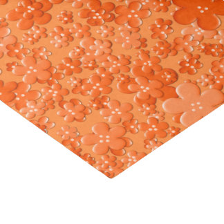 Scattered Flowers-Orange-TISSUE WRAPPING PAPER