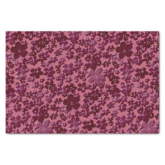 Scattered Flowers-Plum-TISSUE WRAPPING PAPER