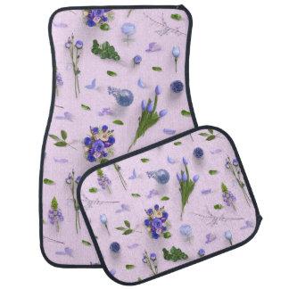 Scattered Flowers Purple Floor Mat