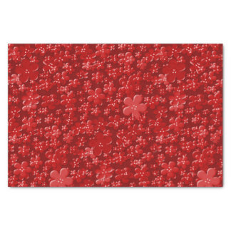 Scattered Flowers-Red-TISSUE WRAPPING PAPER