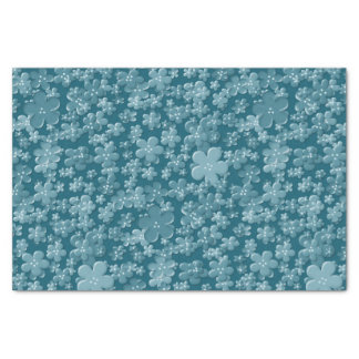 Scattered Flowers-Soft Blue-TISSUE WRAPPING PAPER