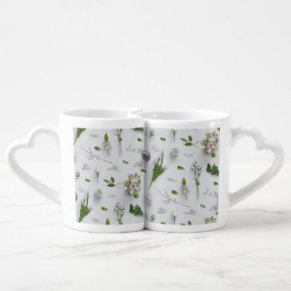 Scattered Flowers White Lovers Mug