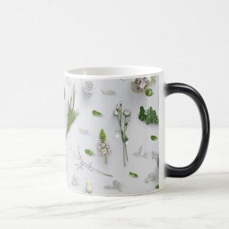 Scattered Flowers White Morphing Mug