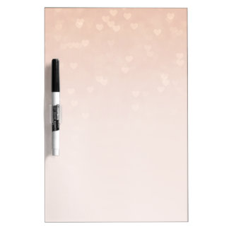 Scattered Hearts Dusty Rose Ombre Dry Erase Board