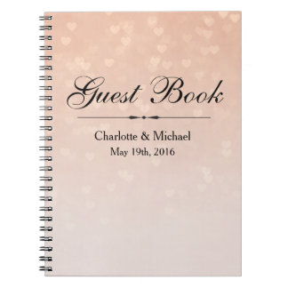 Scattered Hearts Dusty Rose Ombre Notebook