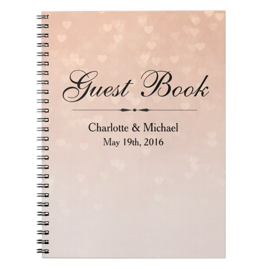 Scattered Hearts Dusty Rose Ombre Spiral Notebook
