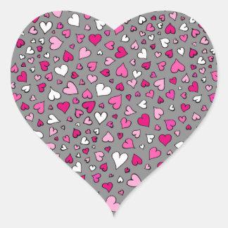 Scattered Hearts Heart Sticker