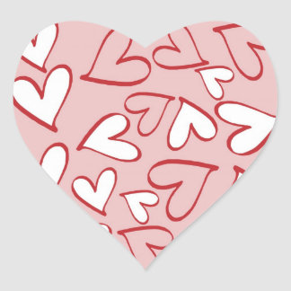 Scattered Hearts Pattern Heart Sticker