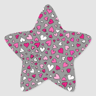 Scattered Hearts Star Sticker