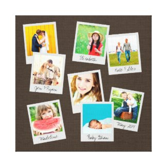 Scattered Instagram Photo Collage Canvas Print