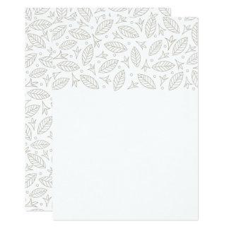 Scattered Leaves Wedding Invitation-white 13 Cm X 18 Cm Invitation Card