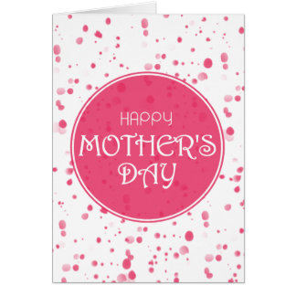Scattered Petals Pink Happy Mother's Day Card