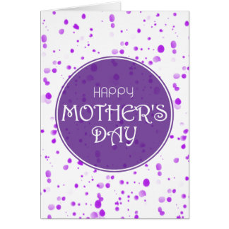 Scattered Petals Purple Happy Mother's Day Card
